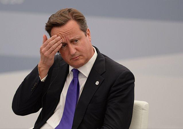 Primeiro-ministro britânico David Cameron na reunião durante a cúpula do G20