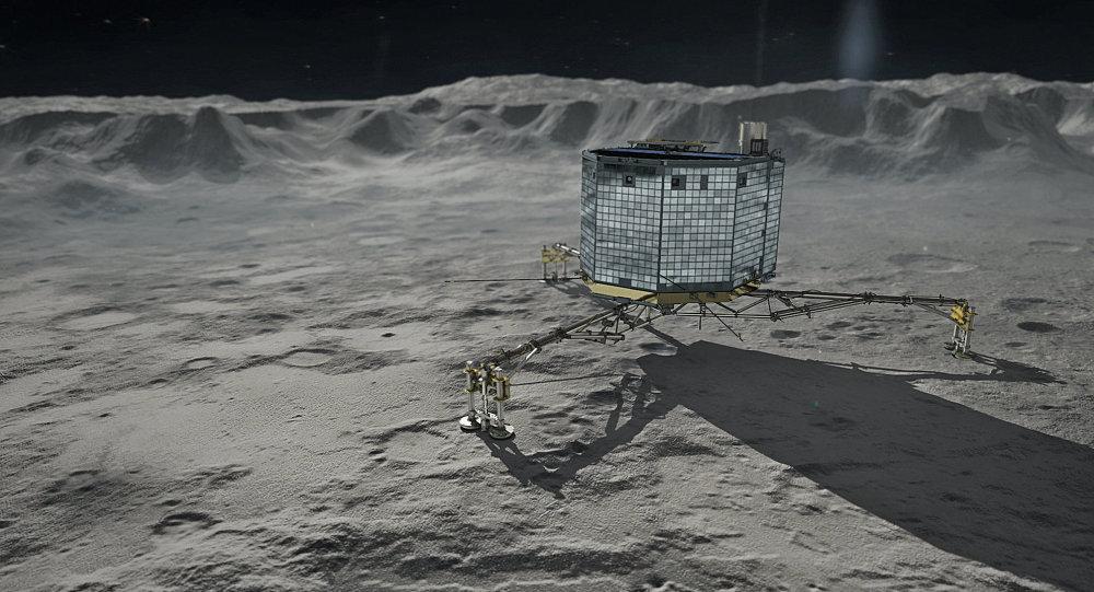 Aparelho Philae sobre o cometa 67P Tchourioumov-Guérassimenko