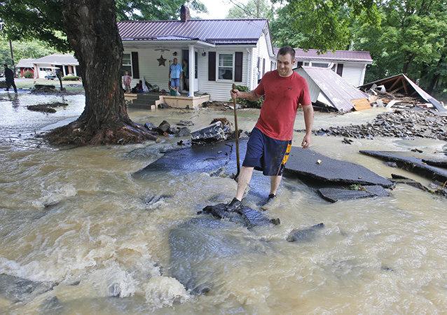 Enchente no estado da Virgínia Ocidental