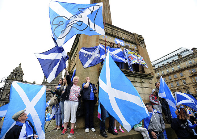 Apoiadores da independência escocesa