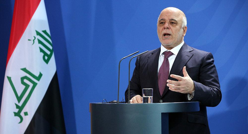 Premier do Iraque, Haider al-Abadi, durante coletiva de imprensa em Berlim, após um encontro com a chanceler alemã, Angela Merkel, em 11 de fevereiro de 2016