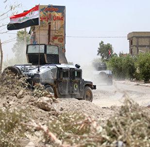 Forças antiterroristas iraquianas em Fallujah