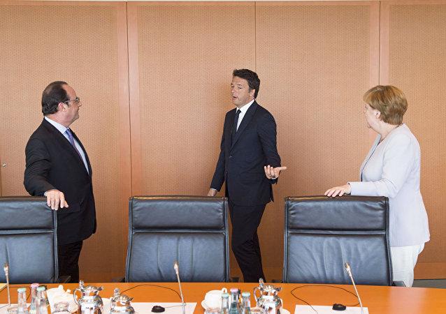 Renzi, Merkel e Hollande se reúnem para discutir a crise da UE