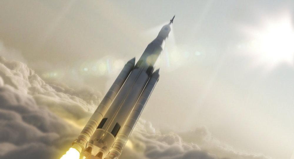 Uma concepção do Sistema de Lançamento Espacial da NASA (imagem referencial)