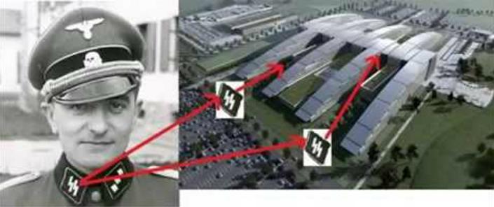 Nova sede da OTAN copia desenho de raios nazistas de SS