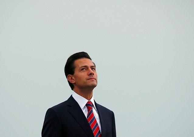 Enrique Pena Nieto, presidente do México, durante visita ao Canada