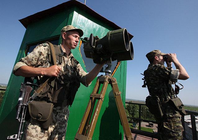 Os guardas da fronteira do Serviço Federal de Segurança da Rússia