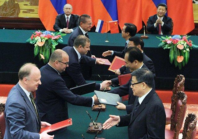 Vladimir Putin visita a República Popular da China, em 25 de junho, 2016
