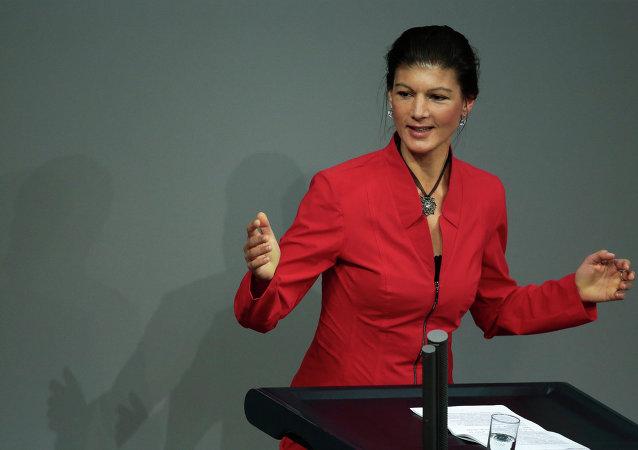 Sahra Wagenknecht, deputada e vice-chefe do partido A Esquerda (Die Linke)