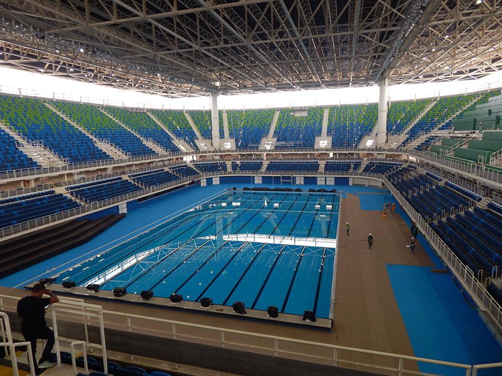 Estádio Aquático Olímpico passa por últimos ajustes antes dos Jogos Rio 2016