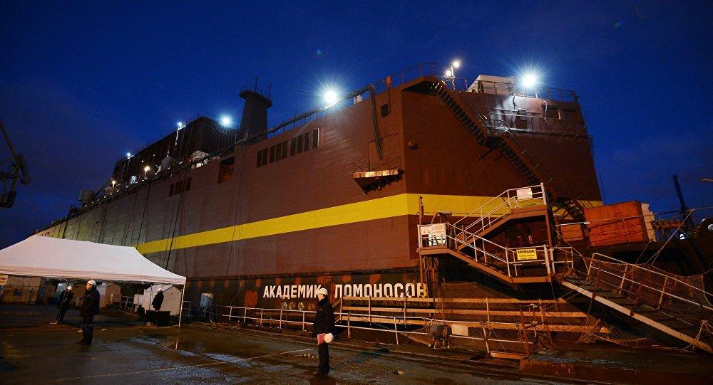 Akademik Lomonosov, a primera usina nuclear flutuante
