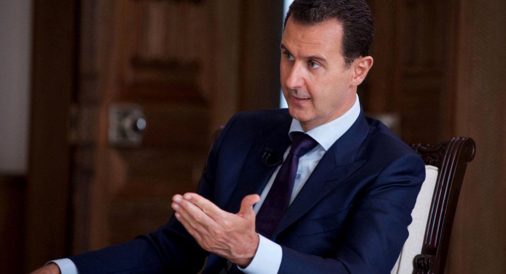 Presidente sírio, Bashar Assad fala durante uma entrevista com o canal de notícias SBS da Austrália, em Damasco, Síria. 01 de julho, 2016