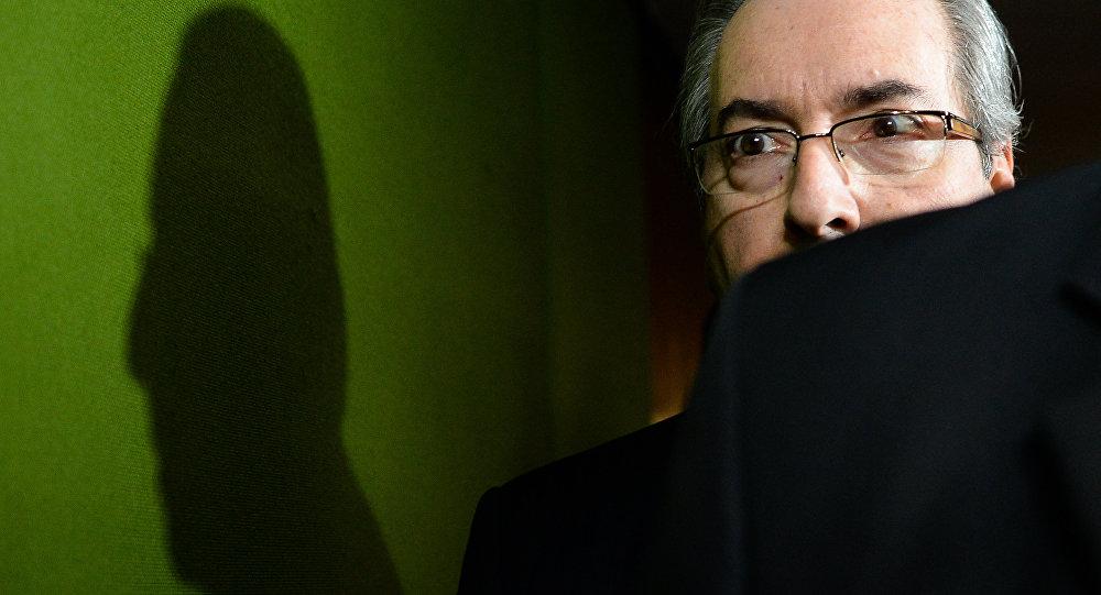 Eduardo Cunha na Câmara em 18 de abril de 2016