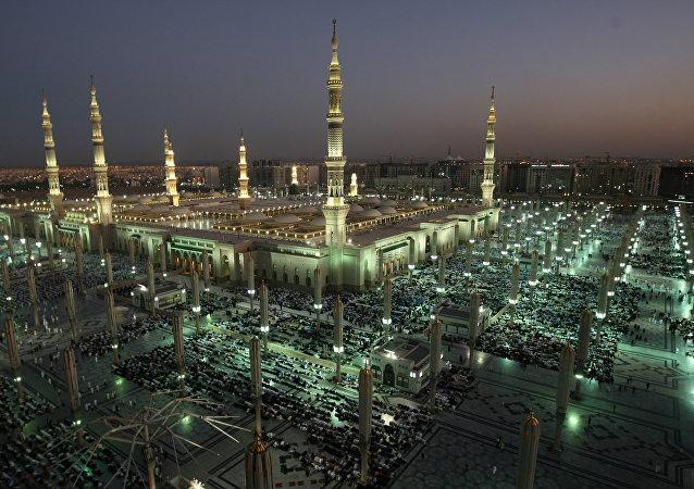 La mezquita del profeta Mahoma en Arabia Saudí