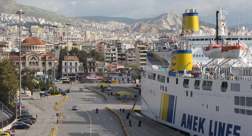 O porto de Pireu, na Grécia