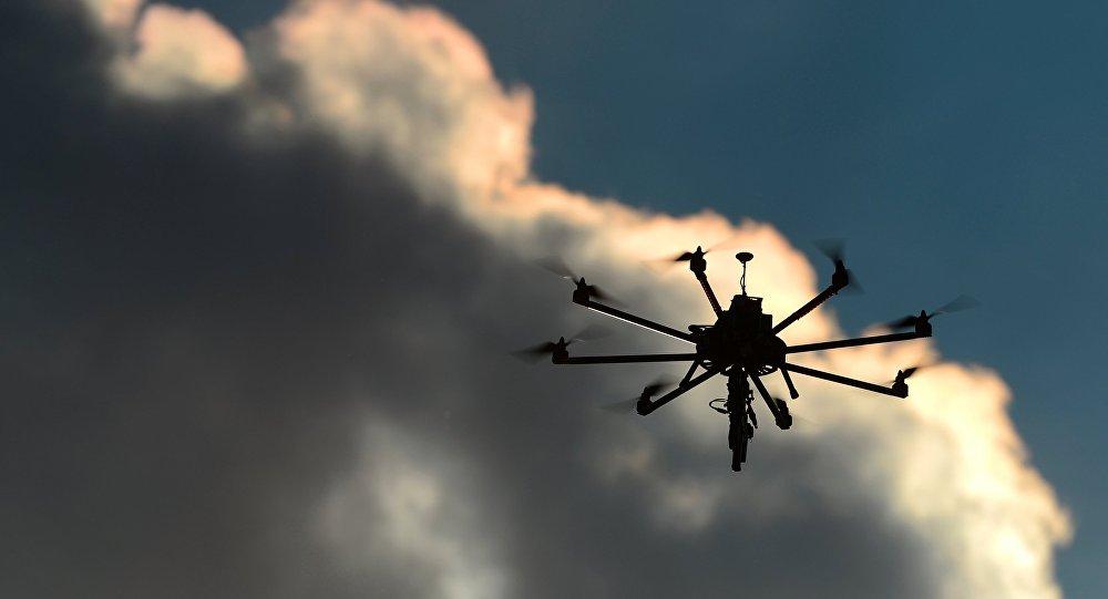 Drone Granat Va-1200 com o fuzil-metralhadora Kedr na exposição Dia de inovações do Ministério da Defesa da Rússia 2015, região de Moscou, Rússia (foto de arquivo)