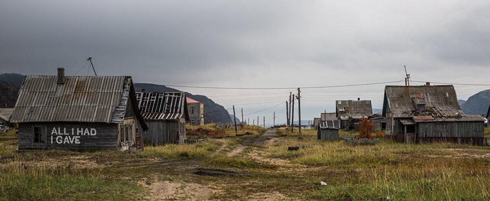 A aldeia de Teriberka, na Península de Kola