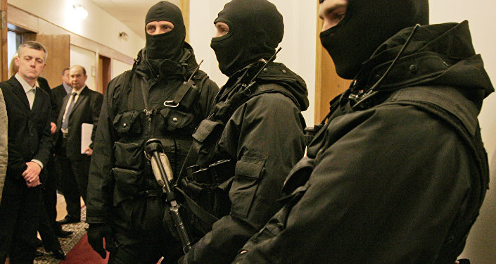 Funcionários do Serviço de Segurança da Ucrânia