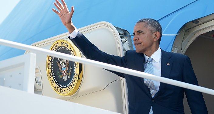 Presidente norte-americano Barack Obama antes da sua partida para a cúpula da OTAN na Polônia, EUA, 7 de julho de 2016