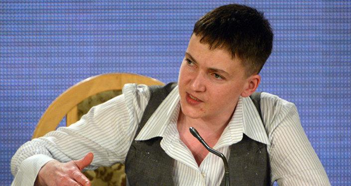 Nadezhda Savchenko, deputada da Suprema Rada (parlamento da Ucrânia)