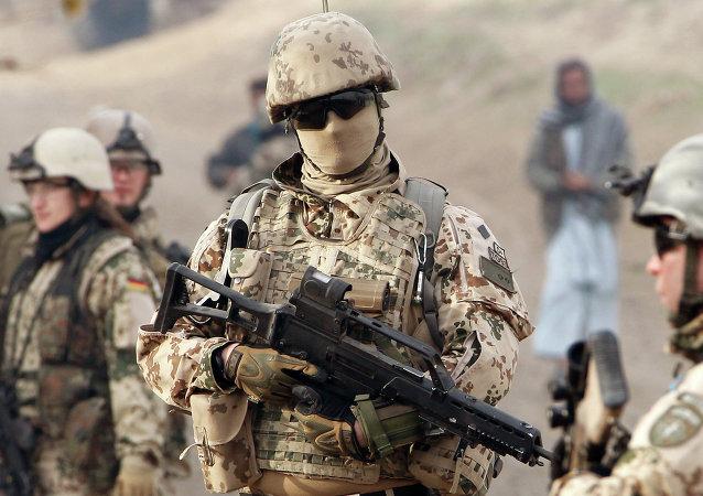 Um militar do exército alemão