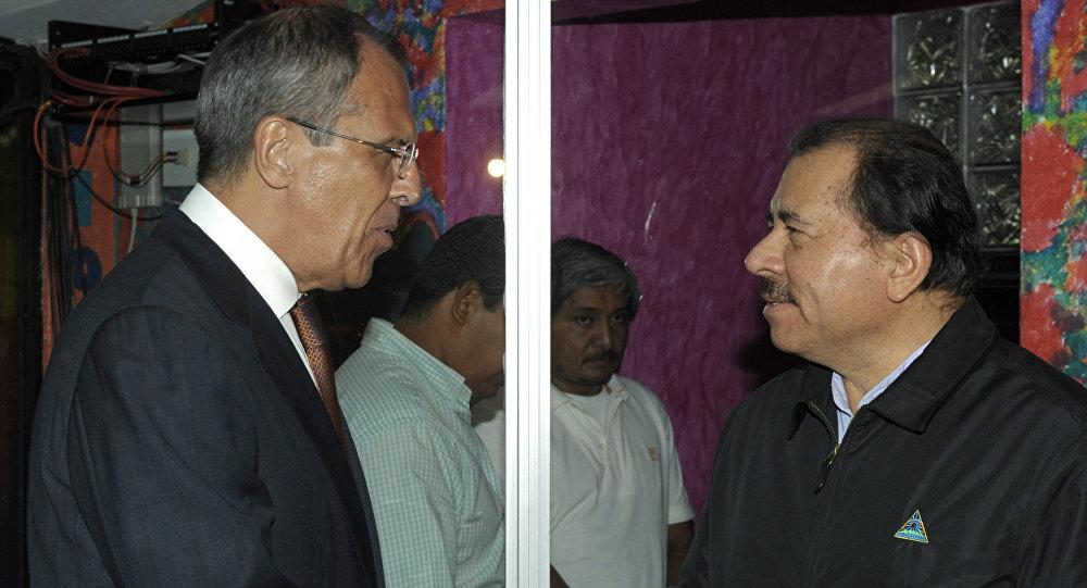 Sergei Lavrov e Daniel Ortega