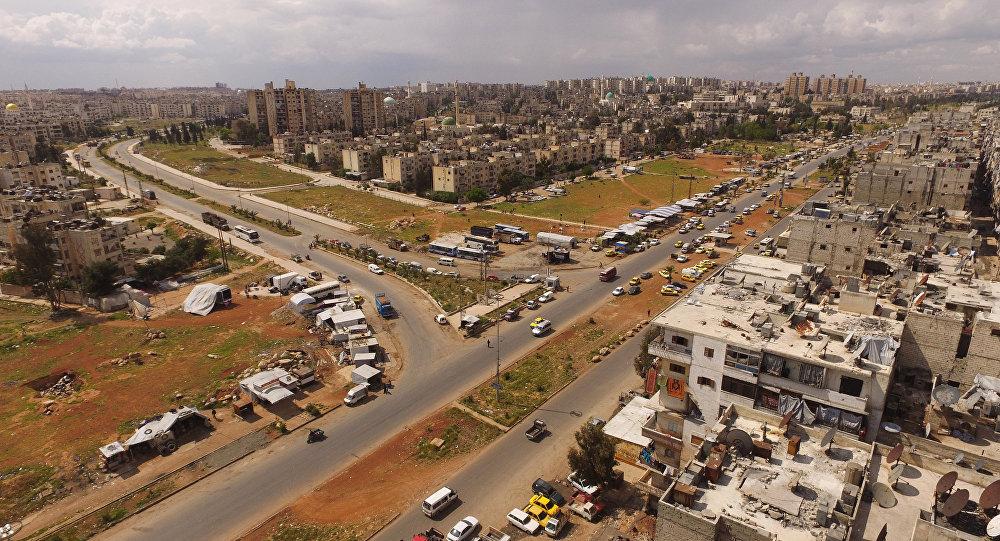 Vista pela cidade síria de Aleppo, Síria, abril de 2016