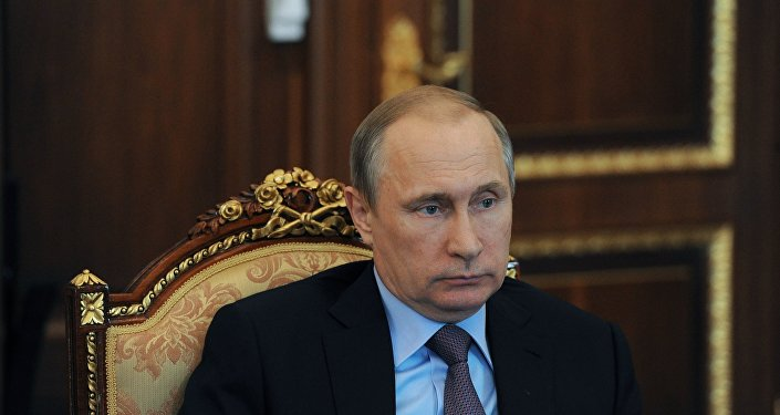 Presidente russo Vladimir Putin durante um encontro no Kremlin, Moscou, Rússia, 15 de julho de 2016