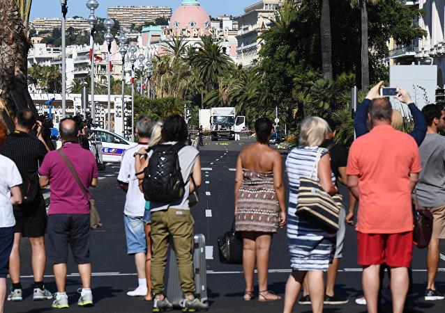 Passeio dos Ingleses, Nice em 15 de julho, 2016