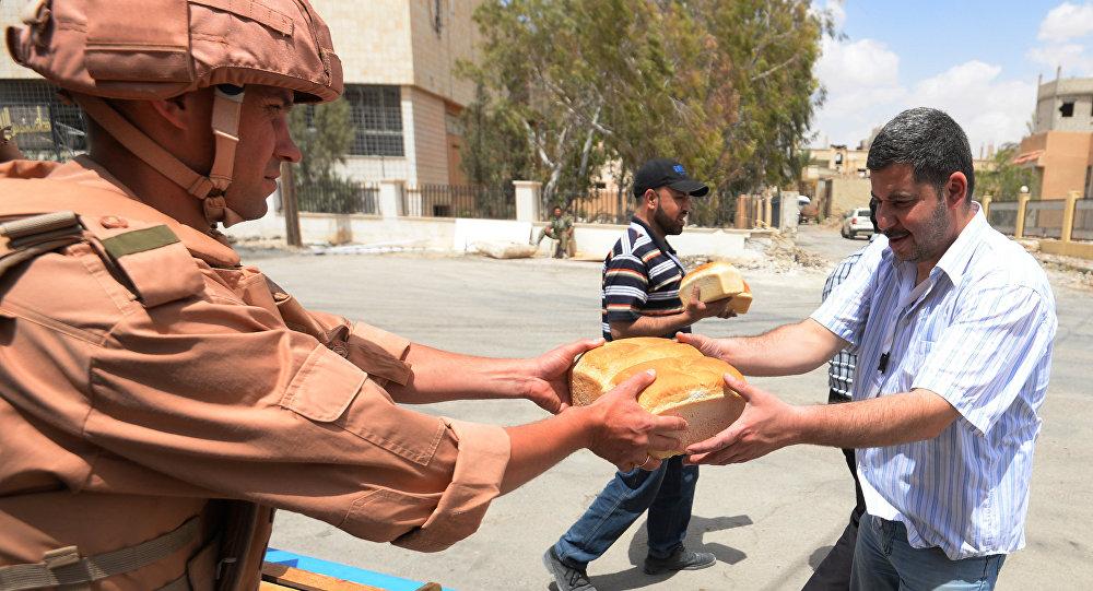 Ajuda humanitária da Rússia para a Síria