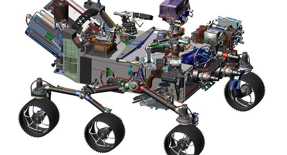 Imagem do rover Mars 2020, NASA
