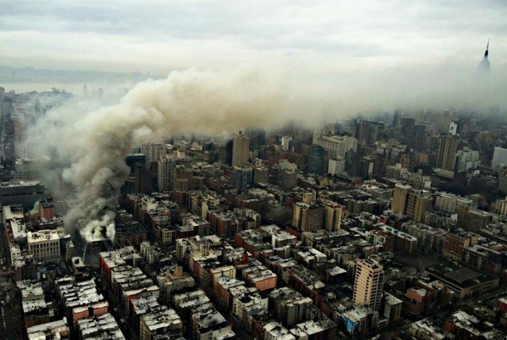 Prédio desaba em Nova York