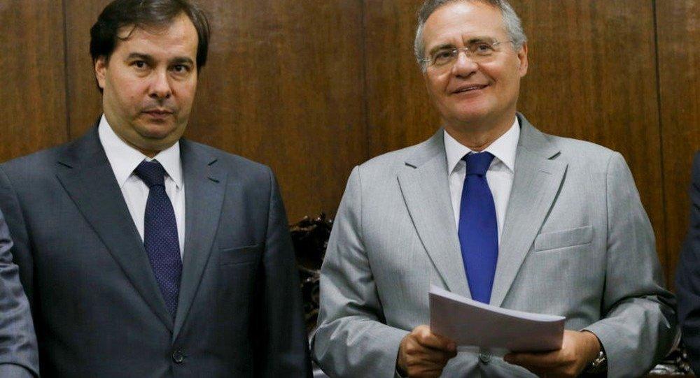 Rodrigo Maia e Renan Calheiros prometem união contra crise