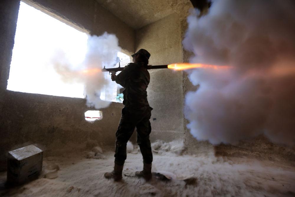 Mulheres do exército sírio