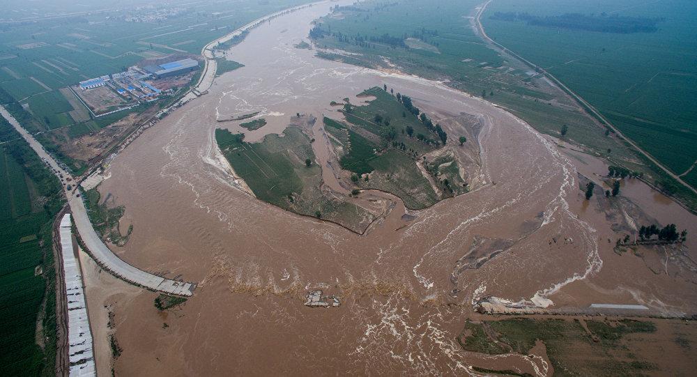 Inundação na cidade de Xingtai, na província de Hebei