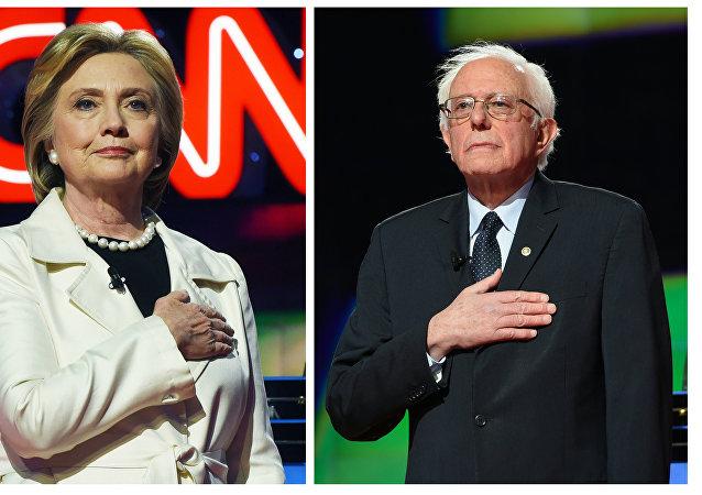 Hillary Clinton e Bernie Sanders
