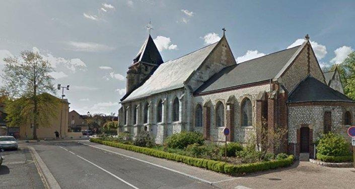 A igreja de Saint-Ettiénne de Rouvay