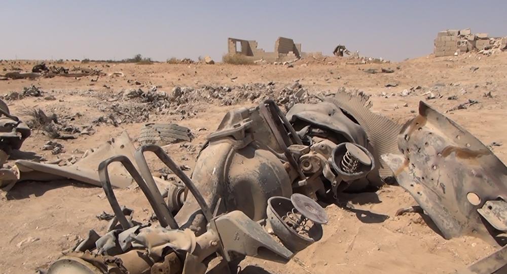 Veículo armadilhado explodido do Daesh
