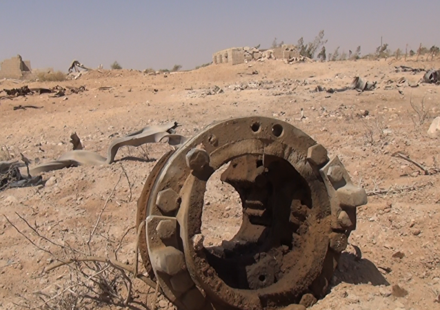 Os escombros que restaram da explosão