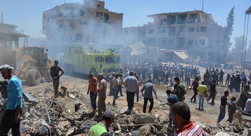 Qamishli, Síria, após atentado do Daesh em 27 de julho de 2016