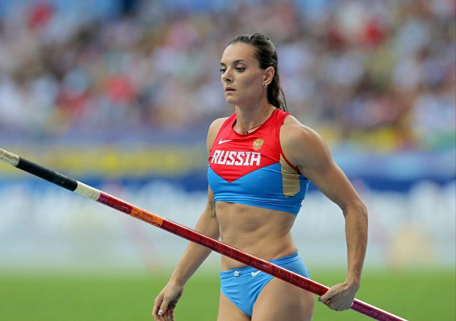 Two-time Olympic pole vault champion, Russia's Yelena Isinbaeva