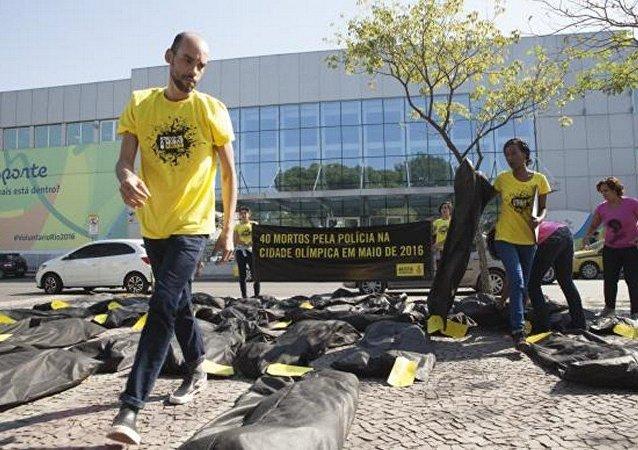 Anistia Internacional denunciou violência policial em 2016 e lembrou mortos nos anos da Copa do Mundo e dos Jogos Pan-Americanos
