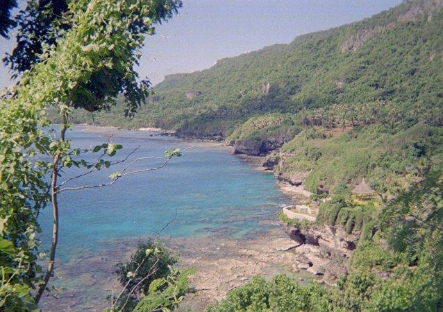 Ilha de Rota, nas Ilhas Marianas
