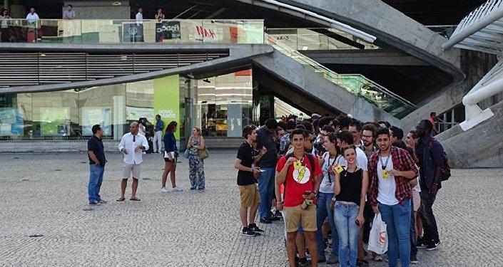 Participantes da Caminhada Pokémon Go