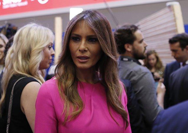 Melania Trump, esposa do candidato presidencial republicano, Donald Trump