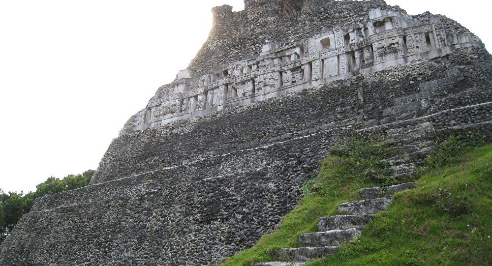 Xunantunich, sítio arqueológico maia, na cidade de Belize, perto da fronteira com Guatemala