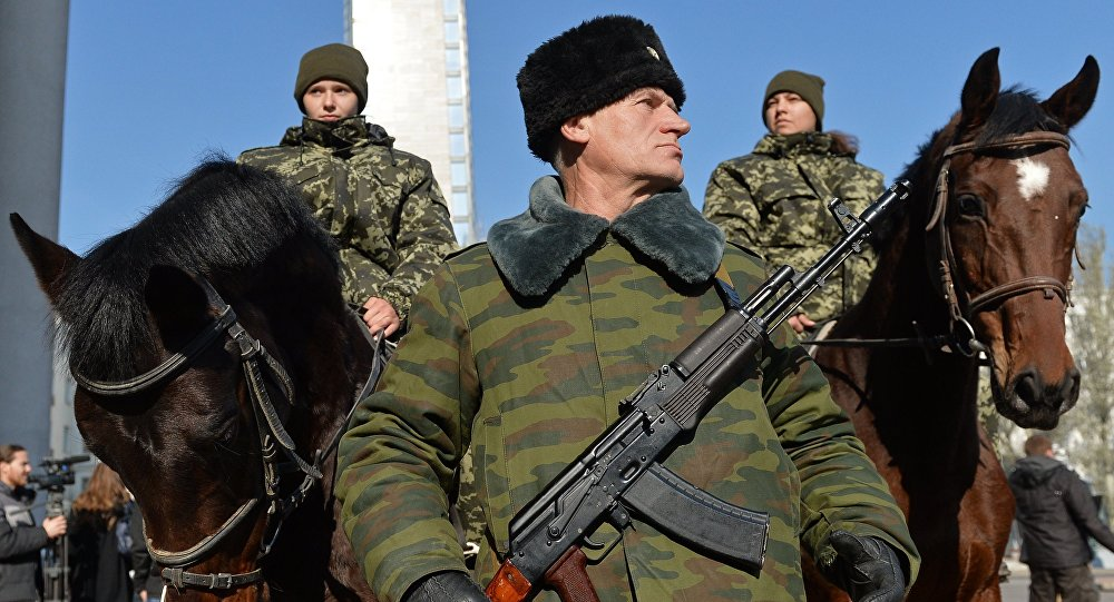 Inauguração do líder da autoproclamada República Popular de Donetsk