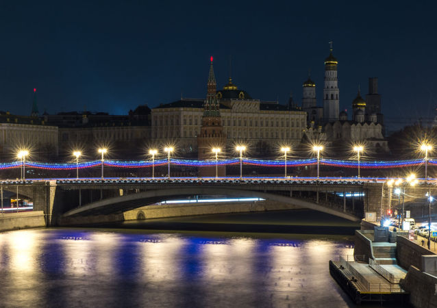Kremlin durante a ação ambiental Hora do Planeta