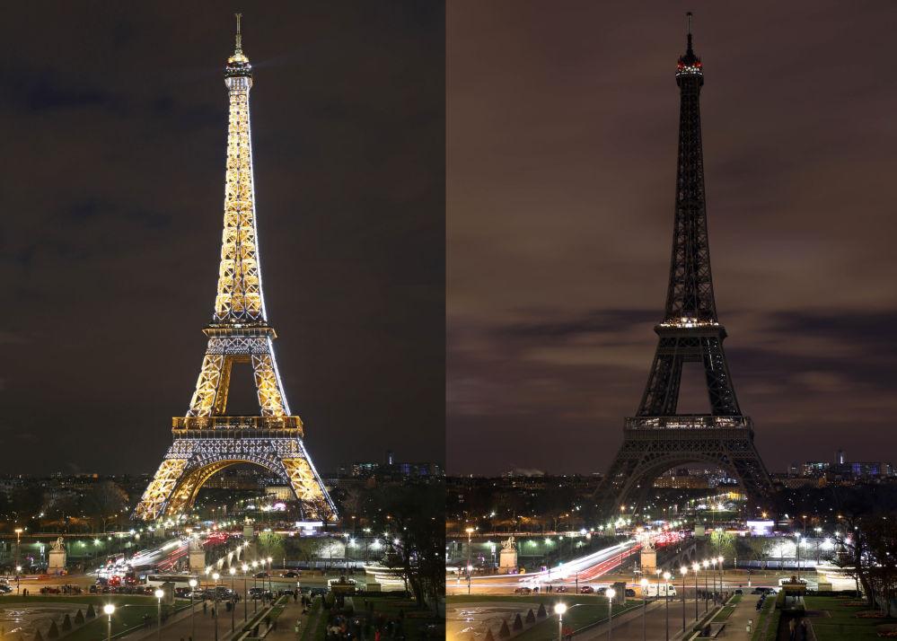 Ação ambiental Hora do Planeta em Paris