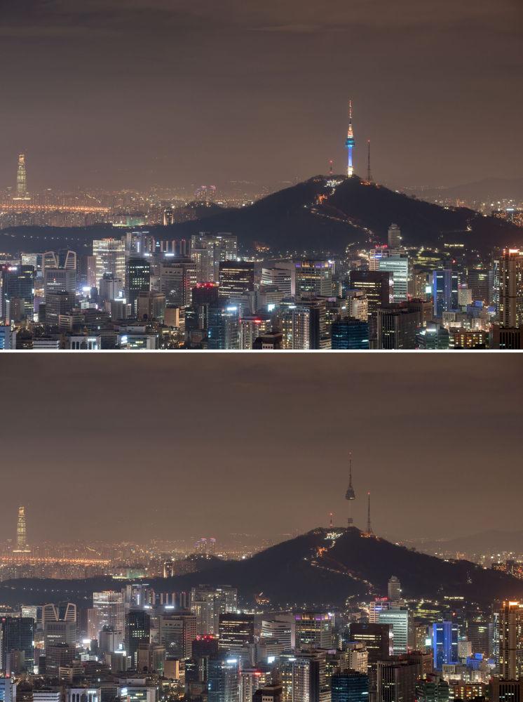 Ação ambiental Hora do Planeta  em Seul